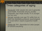 Three categories of aging