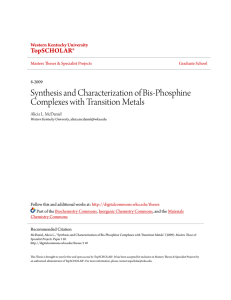 Synthesis and Characterization of Bis-Phosphine