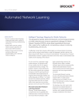 Automated Network Learning solution brief