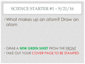 •What makes up an atom? Draw an atom