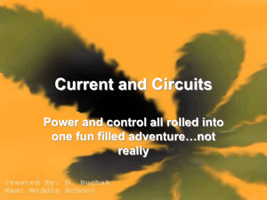 Electrical Current and Circuits