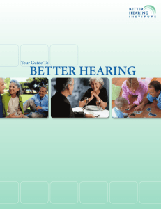Your Guide To BETTER HEARING