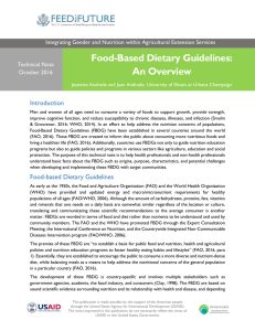 Food-Based Dietary Guidelines: An Overview