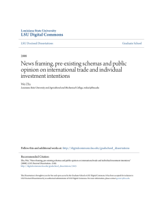 News framing, pre-existing schemas and public opinion on