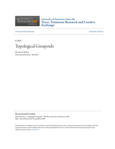 Topological Groupoids - Trace: Tennessee Research and Creative