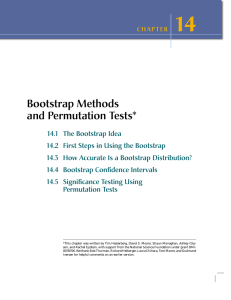 Bootstrap Methods and Permutation Tests*