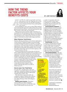 how the trend factor affects your benefits costs