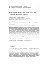 Heavy-Tailed Phenomena in Satisfiability and