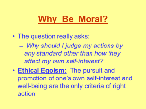 Applied Ethics/Critical Thinking