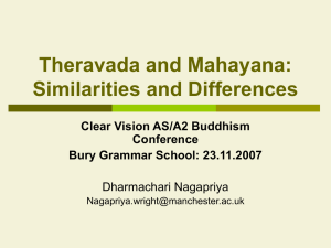 Theravada and Mahayana - The Ecclesbourne School Online