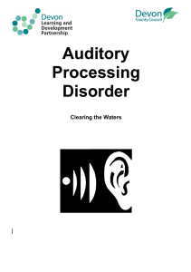 Do You Suspect Auditory Processing Difficulties