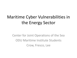 Maritime Cyber Vulnerabilities in the Energy Domain