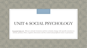 Unit 4: Social Psychology - Ms. Anderson