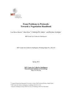 From Problems to Protocols: Towards a Negotiation Handbook