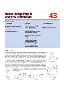 Aromatic heterocycles 1: structures and reactions