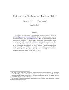 Preference for Flexibility and Random Choice - IAE-CSIC