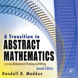 A Transition to Abstract Mathematics Mathematical