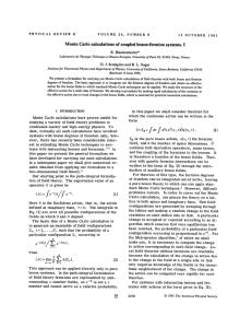 Monte Carlo calculations of coupled boson
