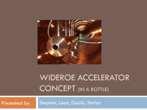Wideroe accelerator Concept Analysis