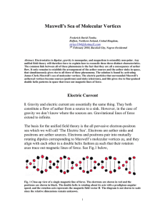 Maxwell`s Sea of Molecular Vortices