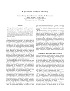 A generative theory of similarity