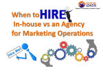 When to In-house vs an Agency for Marketing