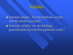 Measurement Validity PPT