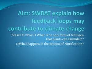Aim: SWBAT explain how feedback loops may contribute to climate