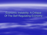 Economic Instability: A Critique Of The Self Regulating Economy