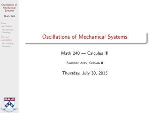 Oscillations of Mechanical Systems