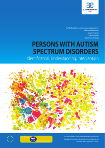 Persons with Autism Spectrum Disorders