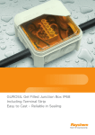 GUROSIL Gel Filled Junction Box IP68 Including Terminal Strip