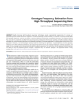 Genotype-Frequency Estimation from High-Throughput