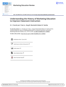 Understanding the History of Marketing Education to Improve