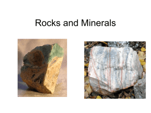 Rocks and Minerals - Mr. Frost`s World