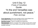 Unit 5 Day 12 Treaty of Versailles
