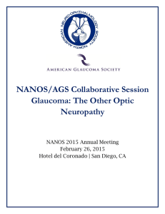 NANOS/AGS Collaborative Session Glaucoma: The Other Optic