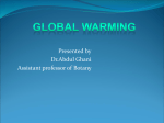 What is global warming? - Helping Material for Botany