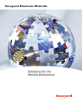 Honeywell Electronic Materials Solutions overview brochure
