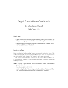 Frege`s Foundations of Arithmetic