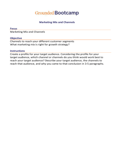 Marketing Mix and Channels Homework