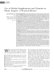 Use of Herbal Supplements and Vitamins in Plastic