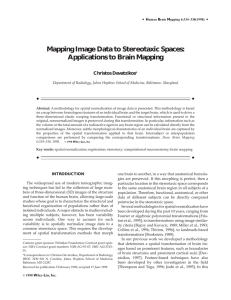 Mapping image data to stereotaxic spaces: Applications to brain
