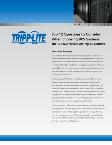 Top 12 Questions to Consider When Choosing UPS