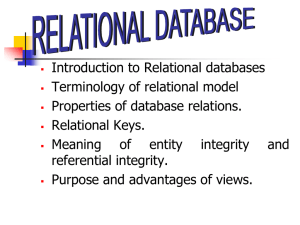 Relational Data structure