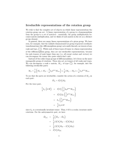Irreducible representations of the rotation group