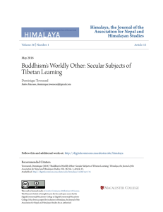 Buddhism`s Worldly Other: Secular Subjects of Tibetan Learning