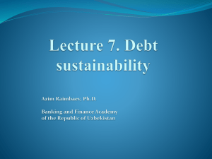 Lecture 1.Principles of Public Debt