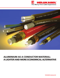 aluminium as a conductor material: a lighter and more