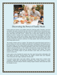 Discovering the Power of Family Meals